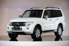 White Mitsubishi Pajero suv Royalty Free Stock Image