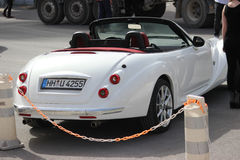 White Mitsuoka Roadster - Rear View royalty free stock photos