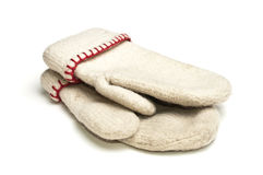White mittens Stock Photo