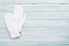 White mittens Royalty Free Stock Photos