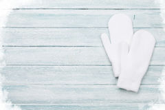 White mittens Royalty Free Stock Photography