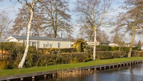 White Mobile home in Giethoor Royalty Free Stock Photos