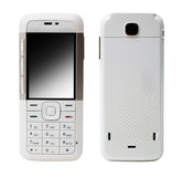 White mobile phone Stock Photography