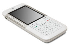 White mobile phone Royalty Free Stock Photos