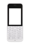 White mobile phone Stock Image