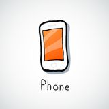 White mobile phone Stock Images