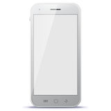 White Mobile Phone Vector Illustration Royalty Free Stock Photos