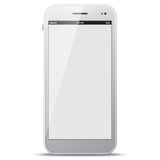 White Mobile Phone Vector Illustration Royalty Free Stock Images