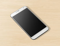 White mobile telephone Royalty Free Stock Images