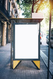 White mock up on the bus stop Stock Image