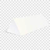 White mock up cardboard triangle box packing for food, gift or other Products. Vector illustration  on transparent backgro Stock Photo