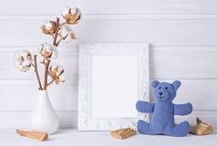 White mock up frame. Children room Royalty Free Stock Image