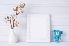White mock up frame. Children room stock images
