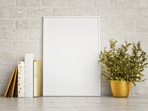 White Mock Up Frame, Hipster Background, Royalty Free Stock Photo