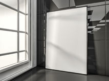 White mock up frame, modern background. 3D. Rendering Stock Image