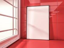 White mock up frame, modern background. 3D Stock Photos
