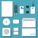 White mock ups for business for your design project. White mock ups for business Royalty Free Stock Image