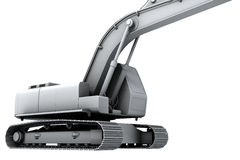 White model of the digger Royalty Free Stock Photo