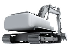 White model of the digger Stock Image