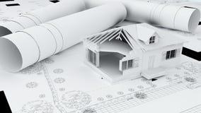 White model house Stock Images