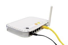 White modem. Royalty Free Stock Photo