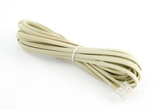 White Modem Cable Stock Photo