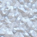 White modern abstract triangle background 3D. Render illustration vector illustration