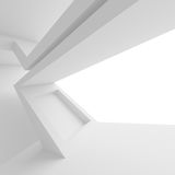 White Modern Architecture Background. Abstract Building Blocks Royalty Free Stock Photo