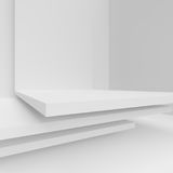 White Modern Architecture Background. Abstract Building Blocks Royalty Free Stock Photography