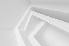 White Modern Architecture Background. Abstract Building Blocks. Minimal Geometric Shapes Design. 3d Rendering Royalty Free Stock Photos