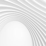 White Modern Architecture Background. Abstract Circular Building Stock Photos