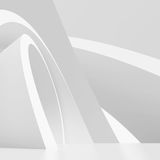 White Modern Architecture Background. 3d White Modern Architecture Background Royalty Free Stock Image