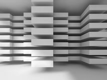 White modern architecture background, digital 3d Royalty Free Stock Photos