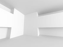 White Modern Architecture Construction Background. 3d Render Illustration Royalty Free Stock Images