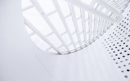 White modern architecture interior  Royalty Free Stock Photo