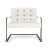 White modern armchair isolated on white background 3D rendering Stock Image