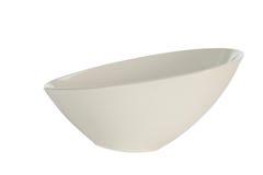 White modern bowl isolated stock image