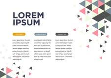 White modern business brochure/ leaflet, flyer, cover template. stock illustration