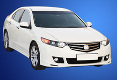 White modern car isolated Royalty Free Stock Image
