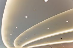 White modern ceiling Stock Images
