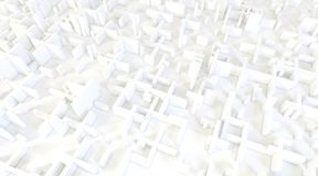 White modern city, aerial view. 3D rendering. White modern city, aerial view. 3D design rendering Royalty Free Stock Photography