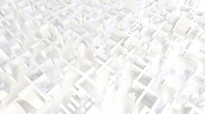 White modern city, aerial view. 3D rendering. White modern city, aerial view. 3D design rendering Stock Photography