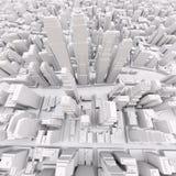 White modern city Stock Photography