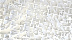 White modern city, aerial view. 3D rendering. White modern city, aerial view. 3D design rendering Stock Images
