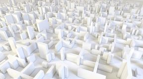 White modern city, aerial view. 3D rendering. White modern city, aerial view. 3D design rendering Stock Photo