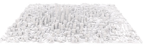White modern city Stock Photography