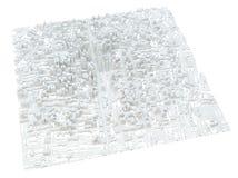 White modern city. Isolated Stock Photos