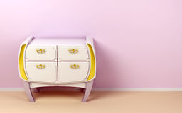 White modern commode Royalty Free Stock Photos