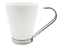 White modern cup Stock Photos