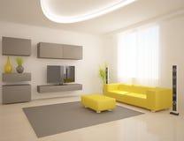 White modern design interior Stock Images